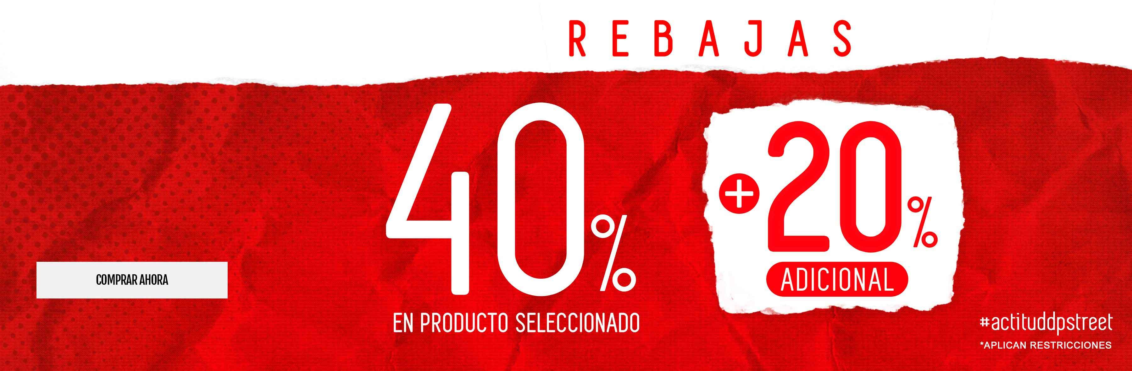 20% de descuento adicional a producto con 40% de descuento