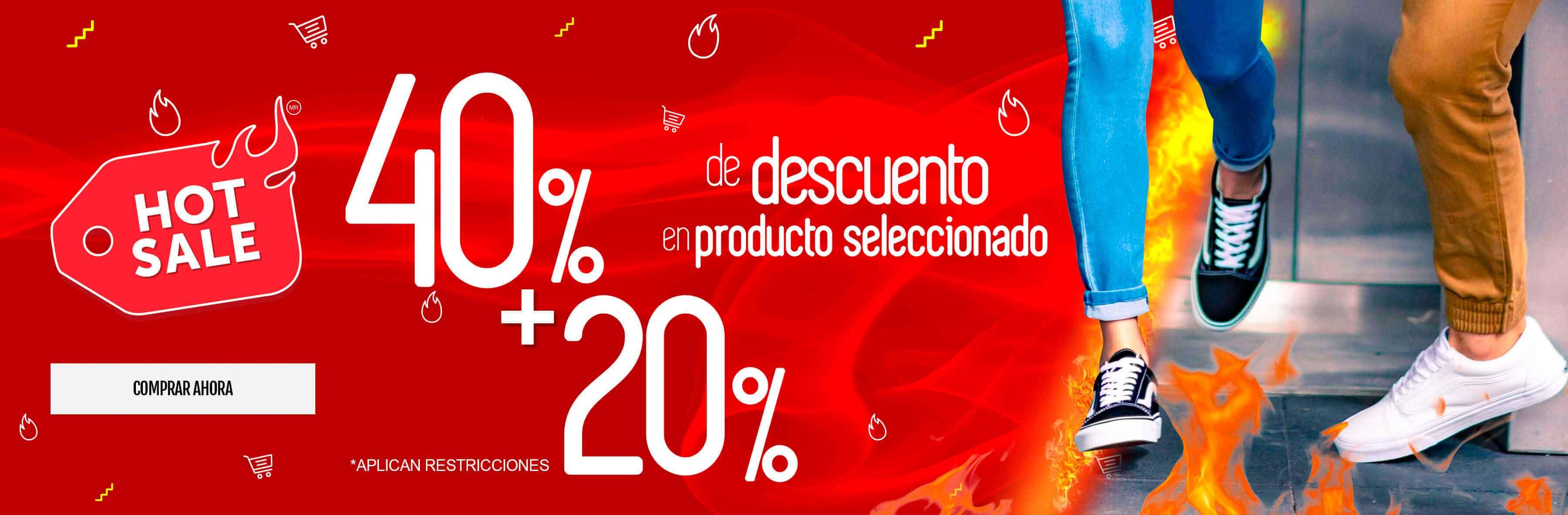 20% de descuento a producto con 40%
