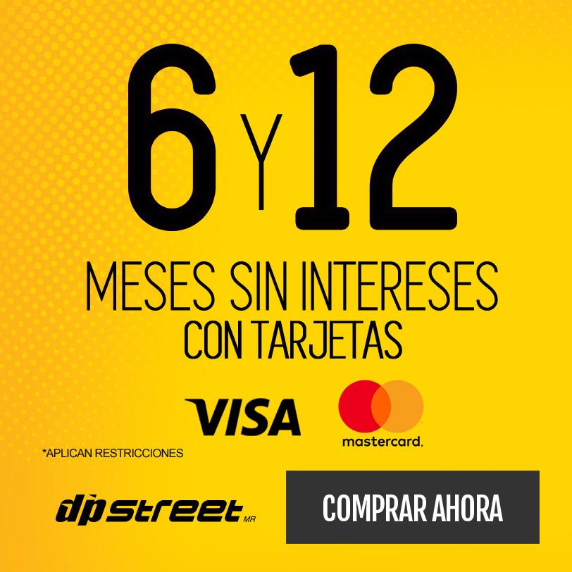 6 y 12 msi con tarjetas visa y mastercard