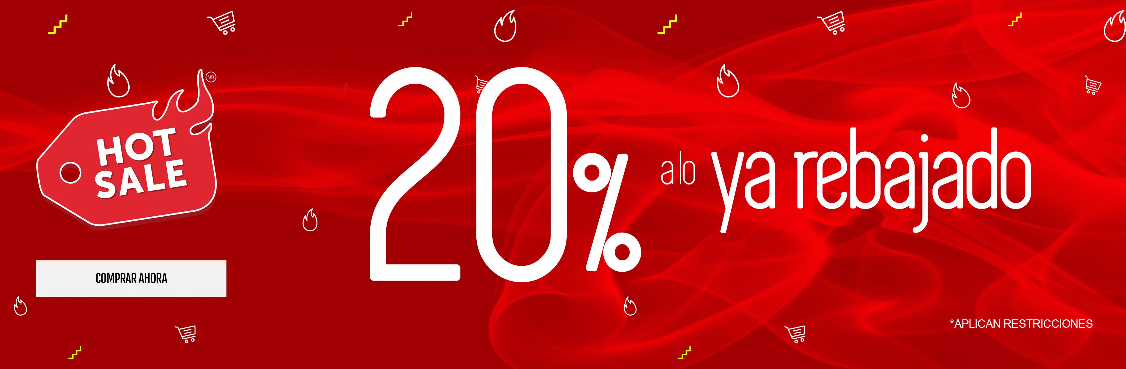 20% de descuento a lo ya rebajado