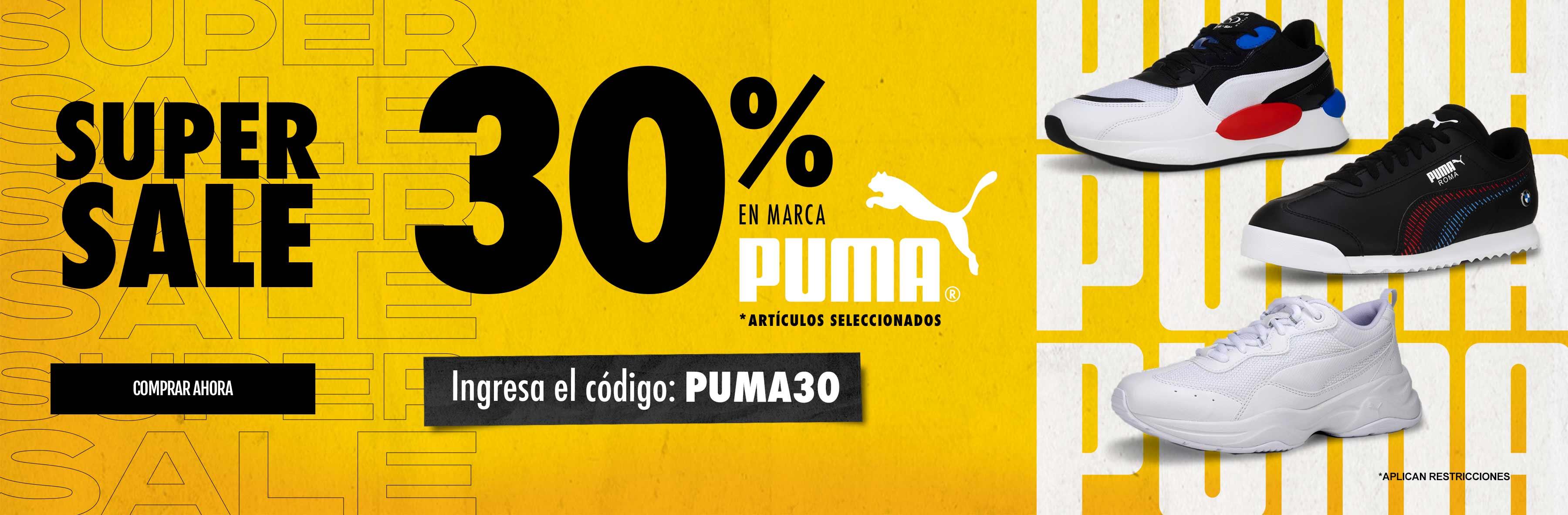 Puma 30%