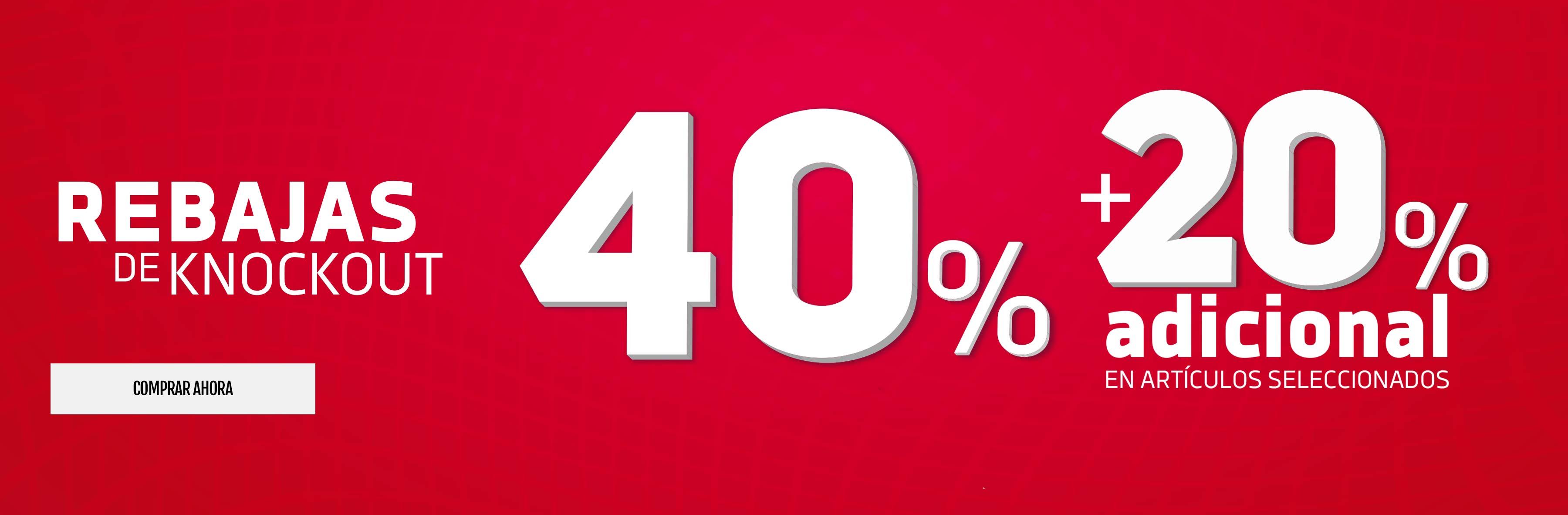 20% de descuento adicional a producto con 40%