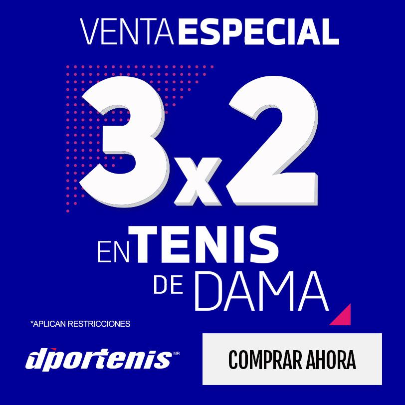 3x2 en tenis de mujer