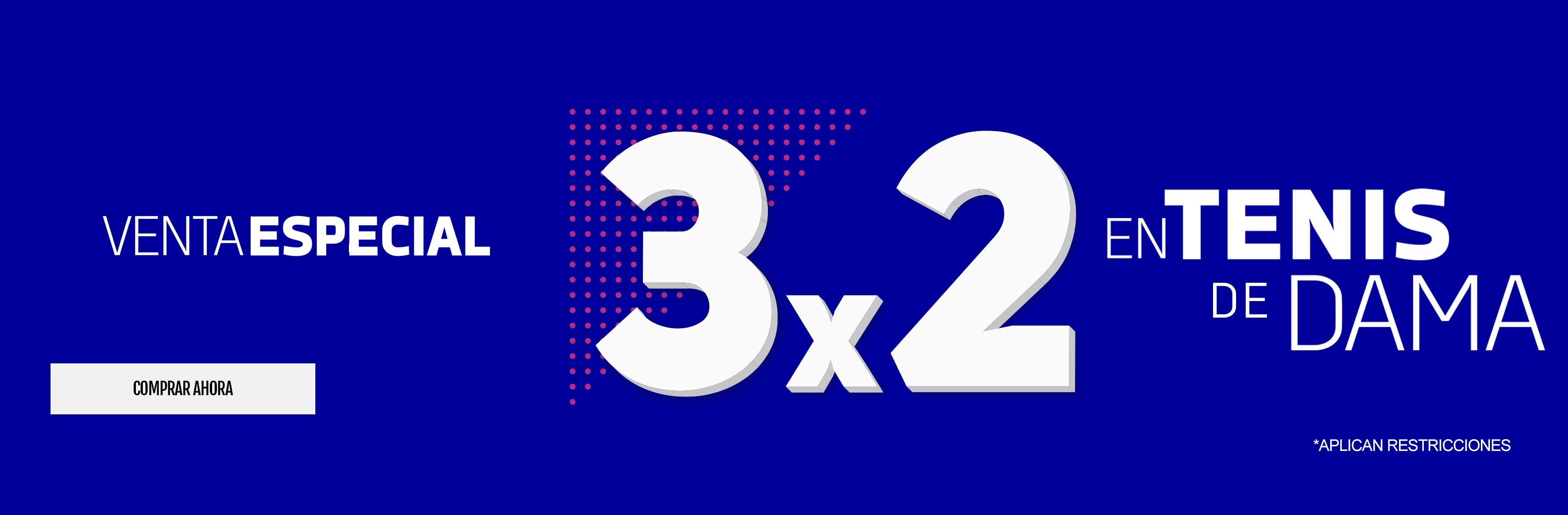 3x2 en tenis de dama